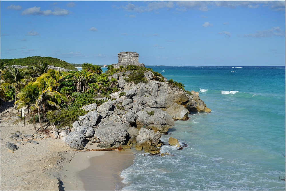 """""""Tulum Ruins 6. Beach"""" by Robert Pittman is licensed under CC BY-ND 2.0"""